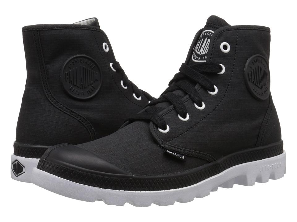 Palladium Pampa Hi Lite Black/White Mens Lace up Boots