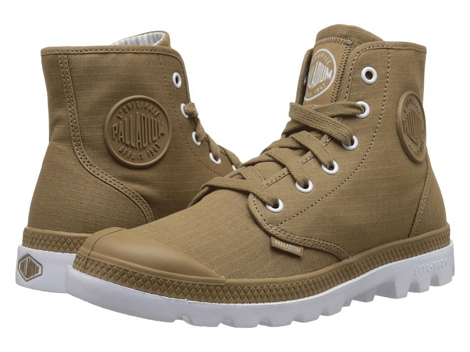 Palladium Pampa Hi Lite Dark Khaki/White Mens Lace up Boots