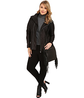 DKNY Jeans - Plus Size Foil Coated Terry Moto Jacket