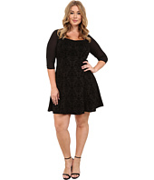 Poppy & Bloom - Plus Size Strike of Midnight Occasion Dress
