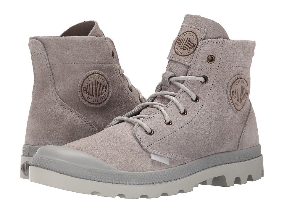 Palladium Pampa Hi Suede UL Vapor/Silver Birch Mens Lace up Boots