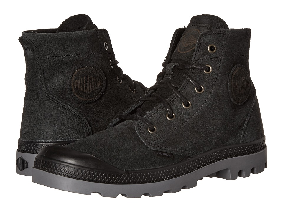 Palladium Pampa Hi Suede UL Black/Steeple Gray Mens Lace up Boots