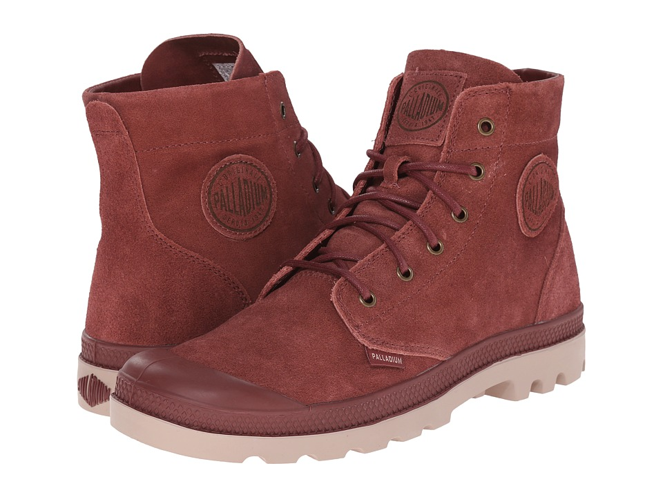 Palladium Pampa Hi Suede UL Madder Brown/Stucco Mens Lace up Boots