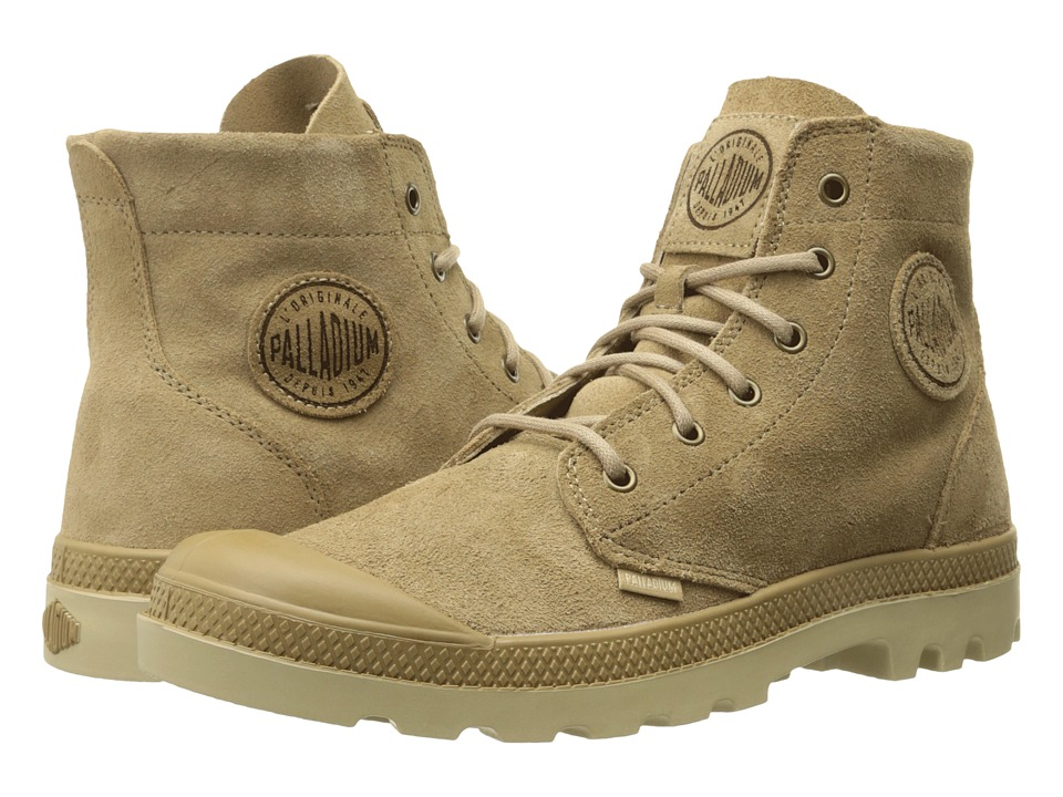 Palladium Pampa Hi Suede UL Incense/Putty Mens Lace up Boots