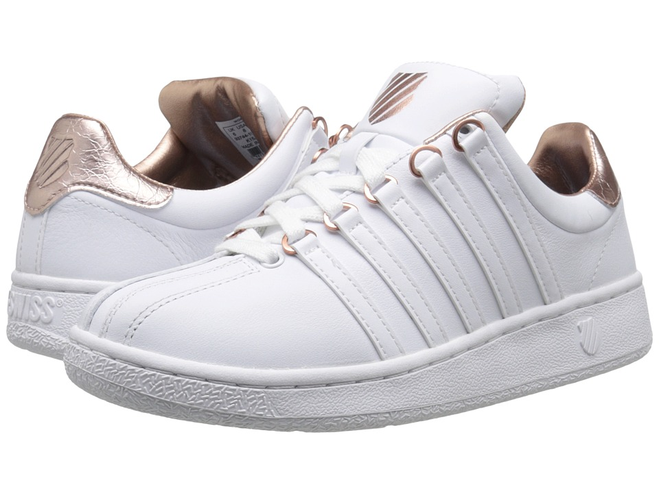 K-Swiss Classic VN Aged Foil (White/Rose Gold Leather) Women