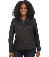 DKNY Jeans - Plus Size Coated Moto Jacket