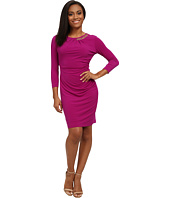 Tahari by ASL Petite - Petite Jersey Half Chain Side Rouch Dress