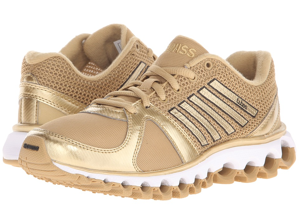 K-Swiss - X-160 Tubes (Prairie Sand/Spun Gold Metallic) Womens Cross Training Shoes