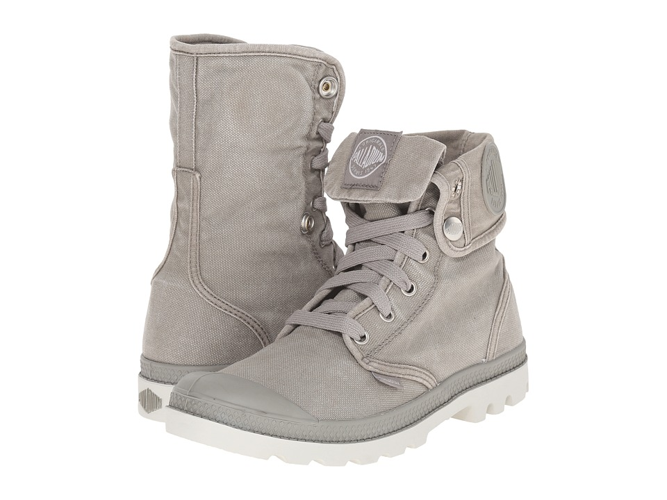 Palladium Baggy Concrete/Silver Birch Womens Lace up Boots