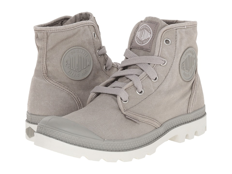 Palladium Pampa Hi (Concrete/Silver Birch) Women