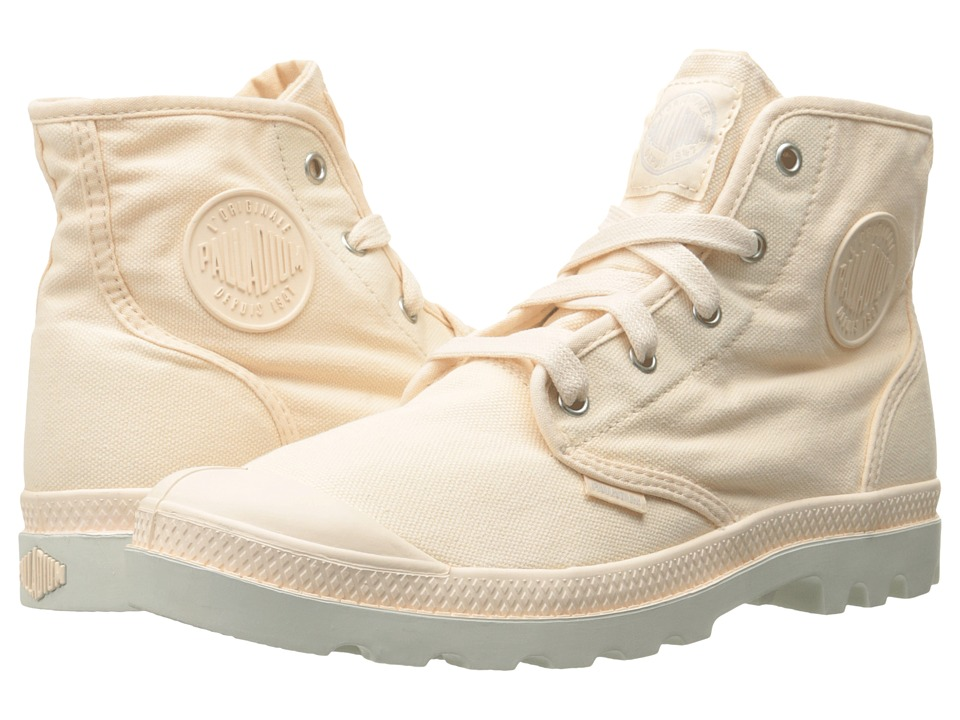 Palladium Pampa Hi Linen/Silver Birch Womens Lace up Boots