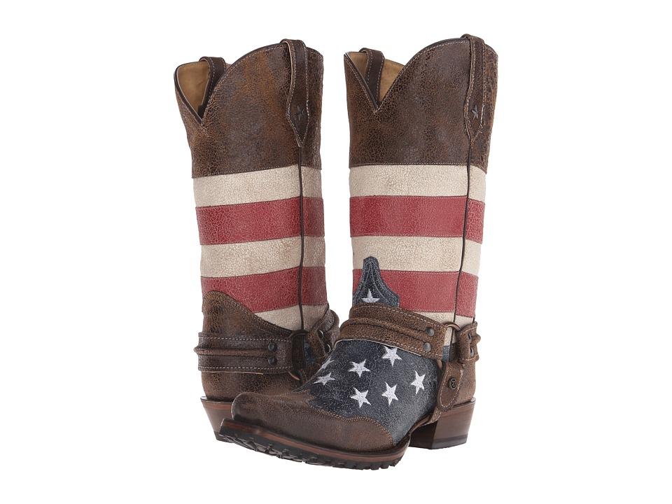 Roper American Biker (Brown) Cowboy Boots