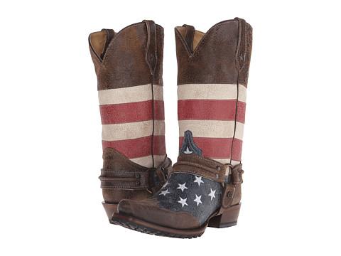 Roper American Flag Biker Western Boot