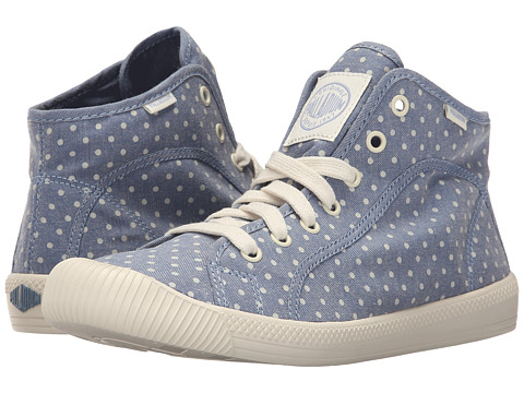 Palladium Flex Lace Mid PD - Blue/Antique White/Polka Dots