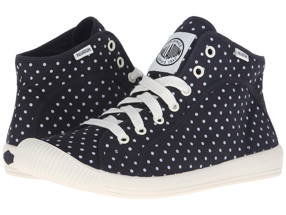 Palladium Flex Lace Mid PD Black/Antique White/Polka Dots Womens Shoes