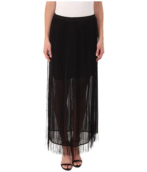 dknyc fringed maxi skirt