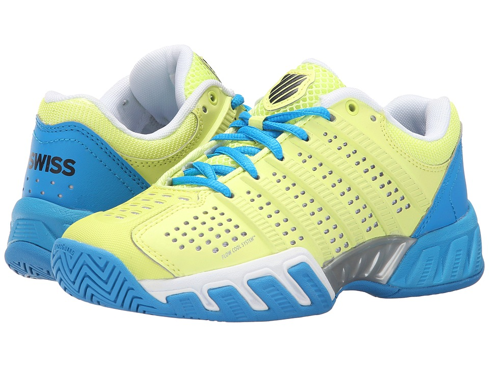 K Swiss Kids Bigshot Light 2.5 Tennis Big Kid Sunny Lime/Vivid Blue Synthetic Leather Boys Shoes