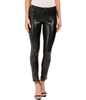 DKNYC - Faux Leather Skinny Ankle Ponte Pant