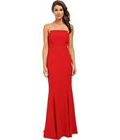 JILL JILL STUART - Strapless Crepy Fitted Column Gown