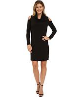 DKNYC - Drapey Matte Jersey Cowlneck Dress