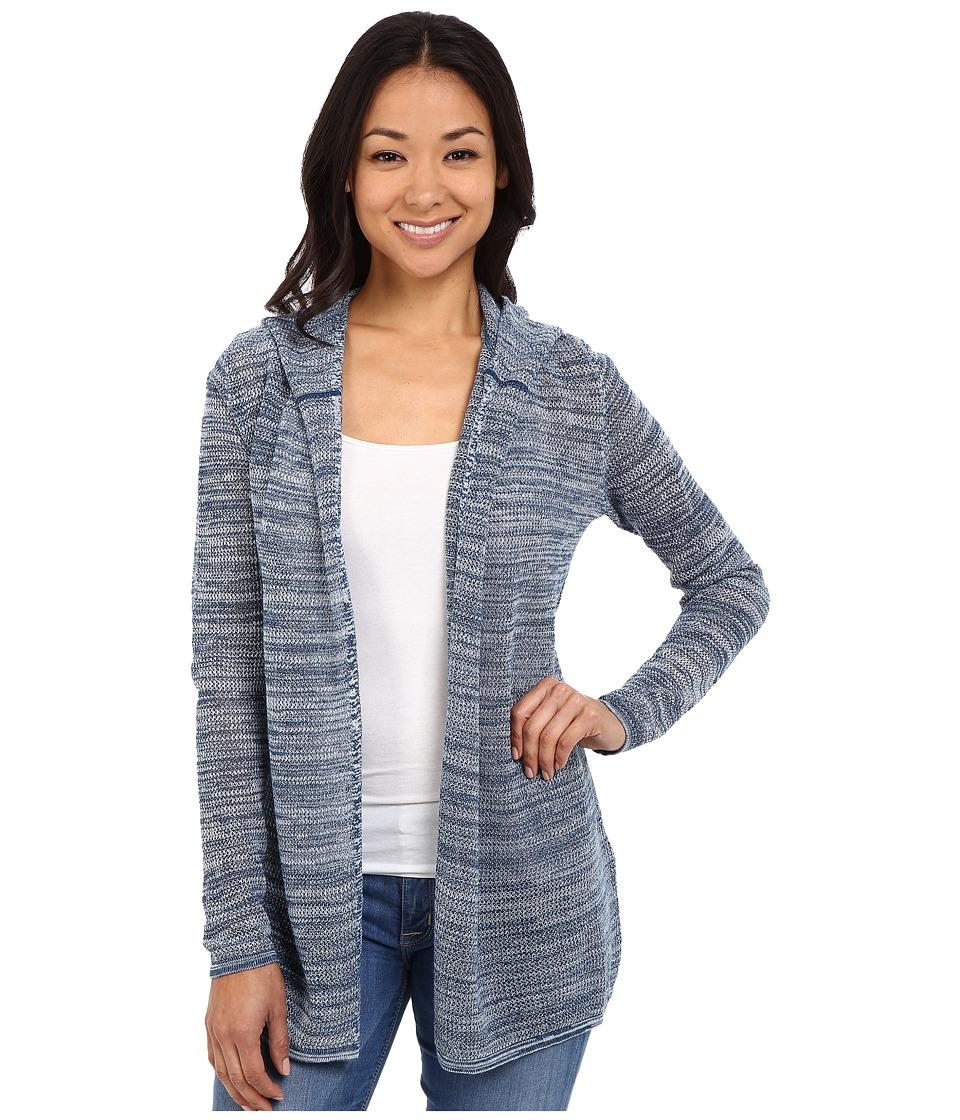 Woolrich Fairwood Hooded Cardigan Atlantic Multi Womens Sweater