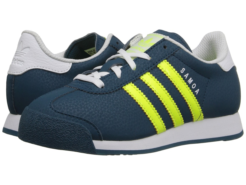 adidas Originals Kids - Samoa C (Little Kid) (Mineral Blue/Solar Yellow/White) Boys Shoes