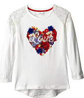 Pumpkin Patch Kids - Urban Folk Long Sleeve Heart Tee (Little Kids/Big Kids)