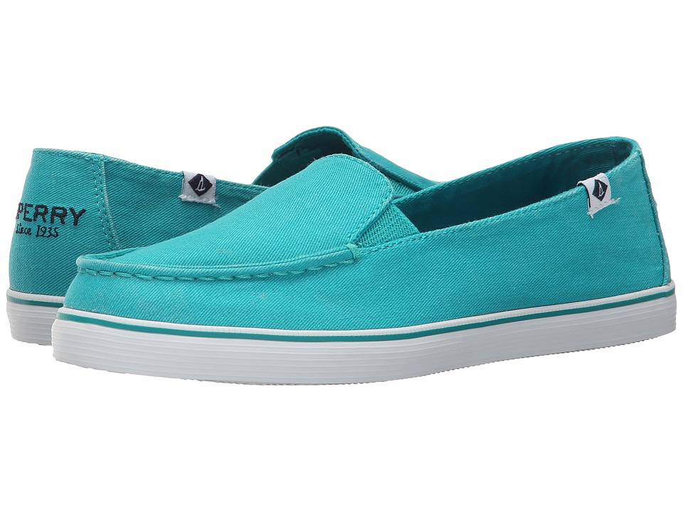 Sperry Top-Sider - Zuma Salt Wash Canvas (Teal) Women