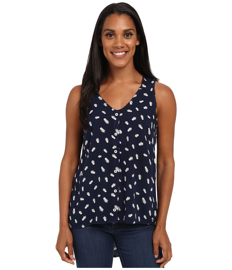 KAVU Beryl Top Navy Womens Clothing