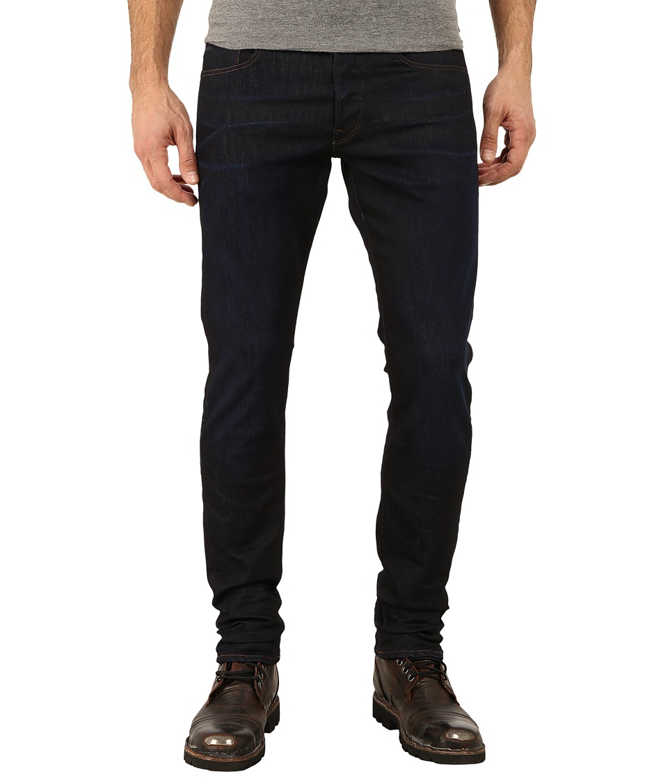 G Star 3301 Tapered Fit Jeans in Visor Stretch Denim Dark Aged Visor Stretch Denim Dark Aged Mens Jeans