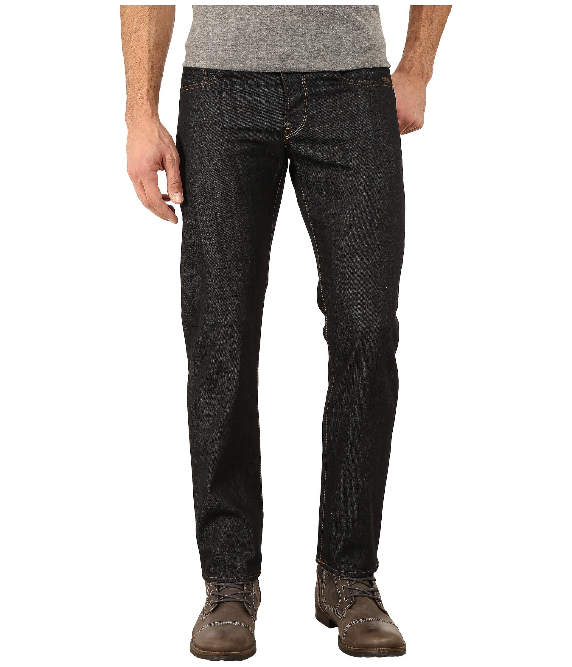 g star attacc straight fit jeans in brooklyn denim raw. Black Bedroom Furniture Sets. Home Design Ideas