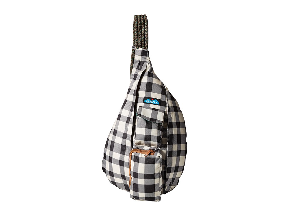 KAVU - Rope Sling (BW Plaid) Backpack Bags