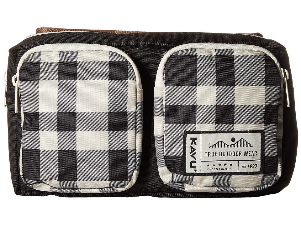 KAVU - Pacer Pack (BW Plaid) Bags
