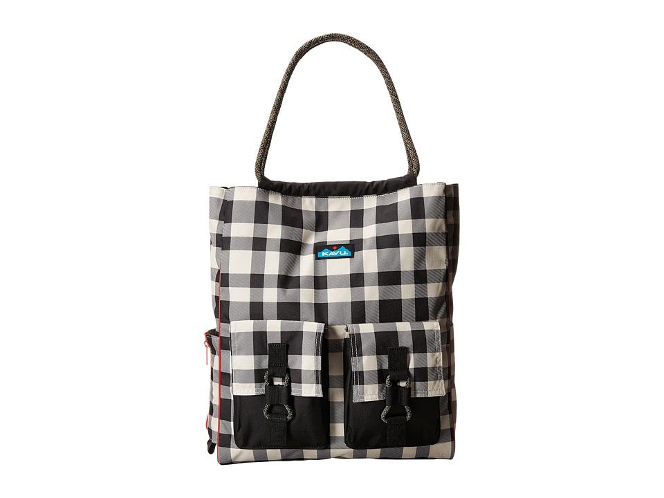 KAVU - Scout Tote (BW Plaid) Tote Handbags