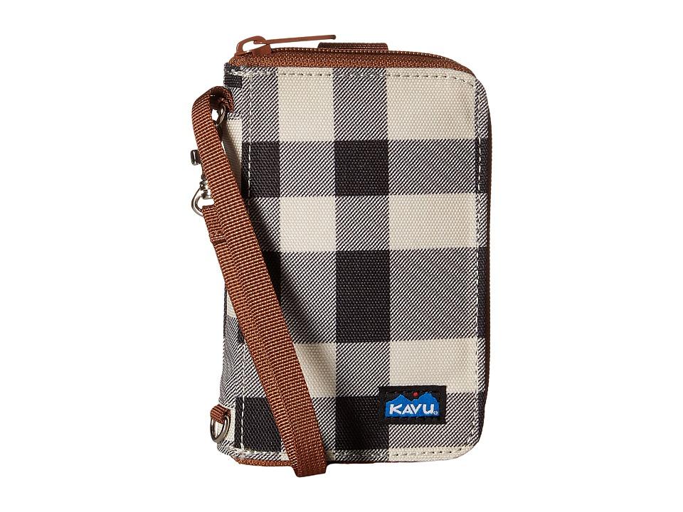 KAVU - Fast Kash (BW Plaid) Bags