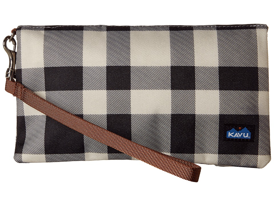 KAVU - Clutch-n-Go (BW Plaid) Clutch Handbags
