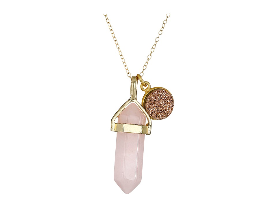 Dee Berkley Creative Thinking Necklace Pink/Gold Necklace