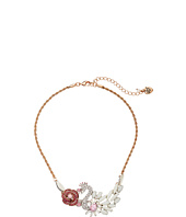 Betsey Johnson - Ballerina Rose Swan Frontal Necklace