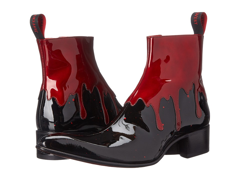 Jeffery West Rochester Black/Red Mens Shoes