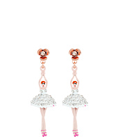 Betsey Johnson - Ballerina Rose Drop Earrings
