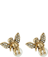 Betsey Johnson - Heaven Sent Angel Pearl Stud Earrings