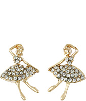 Betsey Johnson - Ballerina Rose Dancer Stud Earrings
