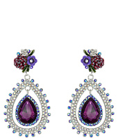 Betsey Johnson - Flower Crystal Drop Earrings