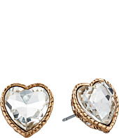 Betsey Johnson - Heaven Sent Crystal Heart Stud Earrings