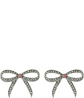 Betsey Johnson - Ballerina Rose Bow Stud Earrings