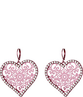 Betsey Johnson - Filligree Heart Earrings