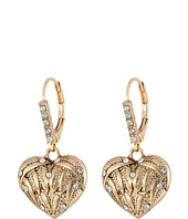 Betsey Johnson - Heaven Sent Heart Drop Earrings