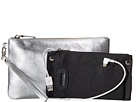Mighty Purse Cow Leather Charging Wristlet (Metallic Silver)