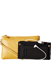 Mighty Purse - Coated Cow Leather Charging Wristlet