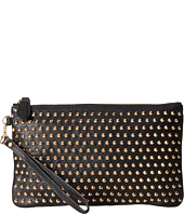 Mighty Purse - Cow Leather Gold Stud Wristlet